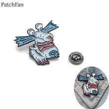 Patchfan Ahhh Hopesick Monsters Krumm Gromble tie Pins backpack clothes brooches for men women hat decoration badges medal A1305