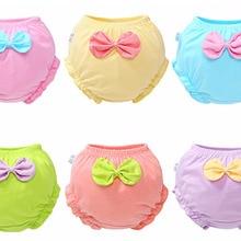 Милый детский галстук-бабочка для маленьких девочек; уличное хлопковое нижнее белье; трусики; удобные штаны для малышей; топ-пачка для малышей
