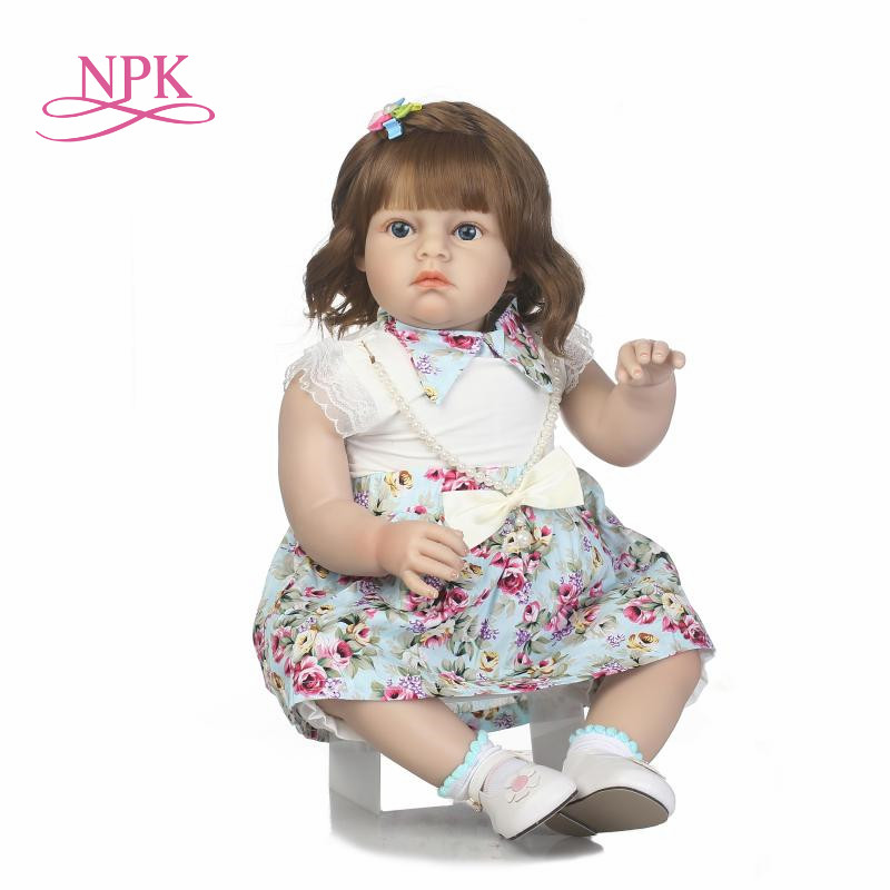 70cm Real Girls Baby Doll Realistic Soft Silicone Newborn Princess Doll Handmade Alive Vinyl Bebe Reborn Dolls for Kids Playmate цены