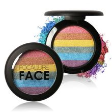 New Rainbow Highlight Shadow Contour Face Bronzer Press Powder Concealer Powder
