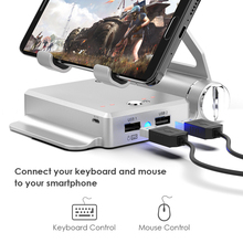 GameSir X1 BattleDock Keyboard and Mouse Converter for Hot PUBG Like, FPS, RoS, Mobile Legend games, Phone Holder, Power bank