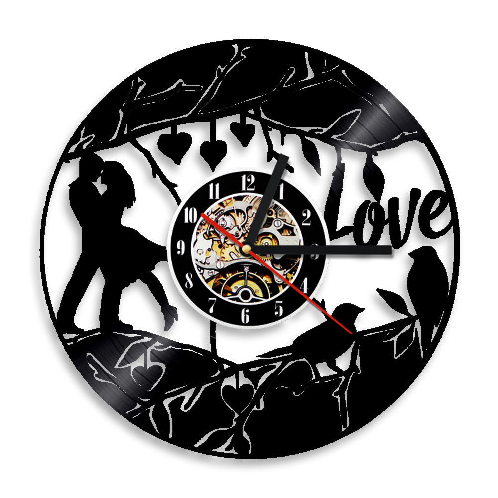 Aliexpress buy 1piece lover theme cock wall music unique aliexpress buy 1piece lover theme cock wall music unique clock valentine lover hearts inspirational kitchen decor marriage wall clock from reliable amipublicfo Images