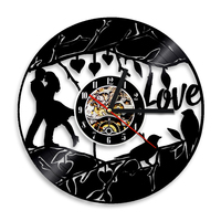 1Piece Lover Theme Cock Wall Music Unique Clock Valentine Lover Hearts Inspirational Kitchen Decor Marriage Wall CLock
