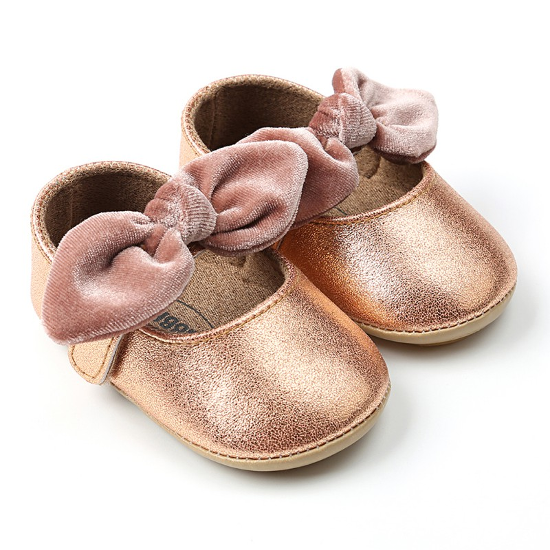 0-18 м Мода Лук-узел для маленьких девочек мягкая подошва обувь против скольжения обувь  ...
