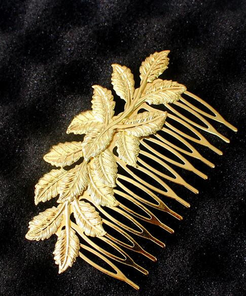 New Arrival Desig Gold Leaf Bridal Hair Combs Clip Accessories For Women Girls Wedding Bijoux Hair Jewelry Wholesale 12 Pcs