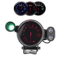 80mm Car Digital Tachometer Defi Rpm Gauge Universal Car Stepper Motor BF Tacometro Meter Blue White LED Shift Light Auto Gauge