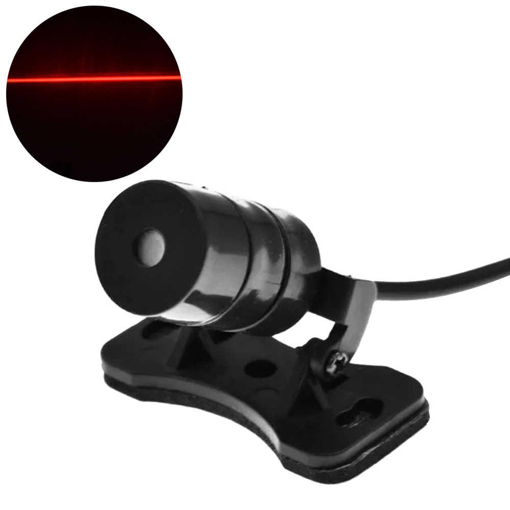 Universal led carro da motocicleta luz de nevoeiro do laser anti colisão cauda lâmpada auto moto travagem estacionamento sinal aviso lâmpadas estilo do carro