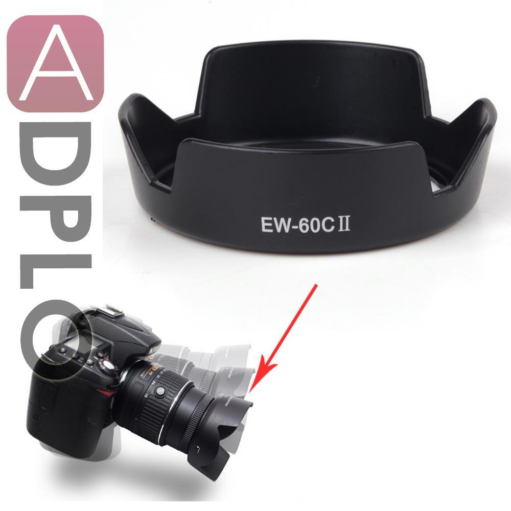 EW-60C II Bayonet Mount Lens Hood Work For /Canon EF 28-80mm F3.5-5.6 V USM Lens 550D 600D 650D 500D 18-55mm