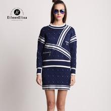 Sweater Dress Suit Women Dress Suits 2017 Winter 2 Pieces Sweater Dress Set EE Famous Luxury Women Dress Sets