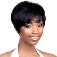 Full Shine Short Hair Bob Wig Brazilian Real Human Hair Lace Front Wig For African Black Women Natural Color Straight Lace Wig