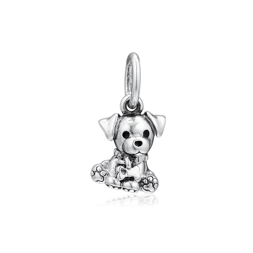 Pandulaso Labrador Puppy Dangle Charm For Jewelry Making Sterling Silver Beads Fits Original Bracelets DIY Woman FashionPandulaso Labrador Puppy Dangle Charm For Jewelry Making Sterling Silver Beads Fits Original Bracelets DIY Woman Fashion