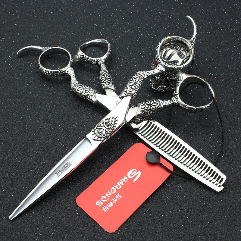 Sharonds 6 pouces outils de coiffure professionnels tatouage ciseaux de coiffure en acier inoxydable ciseaux de coiffureSharonds 6 pouces outils de coiffure professionnels tatouage ciseaux de coiffure en acier inoxydable ciseaux de coiffure