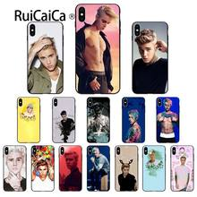 Ruicaica Justin Bieber Tpu Hitam Ponsel Case Penutup Shell UNTUK iPhone 8 7 6 6 S PLUS 5 5 S se XR X XS Max Coque Shell(China)