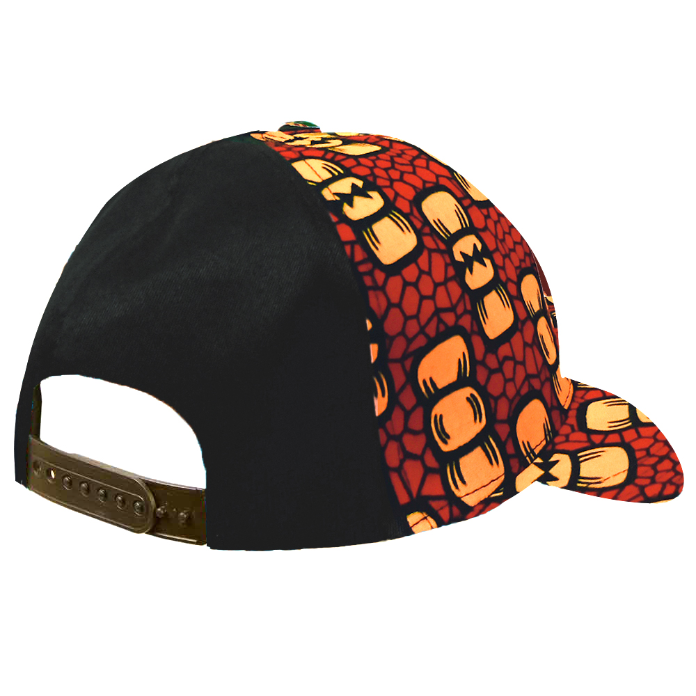 African Hot Sale Ankara Print Hat Custom Logo Brand Printing Black Mesh Cap Snapback Hat Wholesale in Africa Clothing from Novelty Special Use