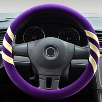 New Winter Short Plush Car Steering Wheel Cover Imitation Flocking Warm Hand 36 37 38 39