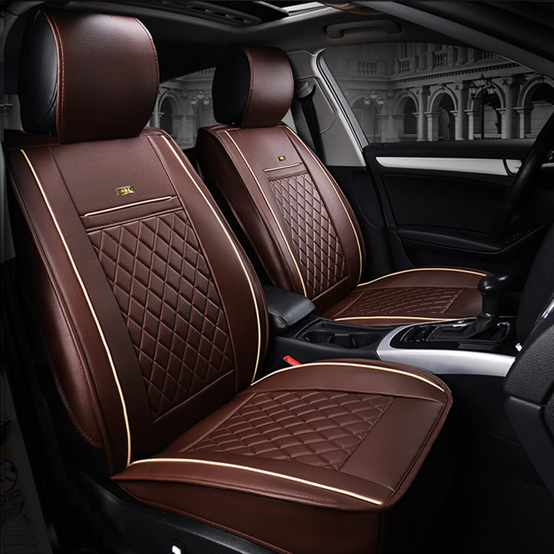 Luxury leather car seat covers monobloc flexible tap tails 500mm