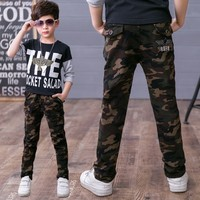 Brand Boy Autumn Wear Pants 2017 New Boy Spring Casual Pants Cotton 5 14 Years Children