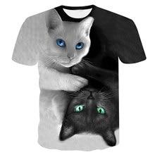 2018 nueva moda camisetas tops camiseta fresca de los hombres mujeres de  alta calidad 3d camiseta Imprimir dos gato manga corta . 0713af02def