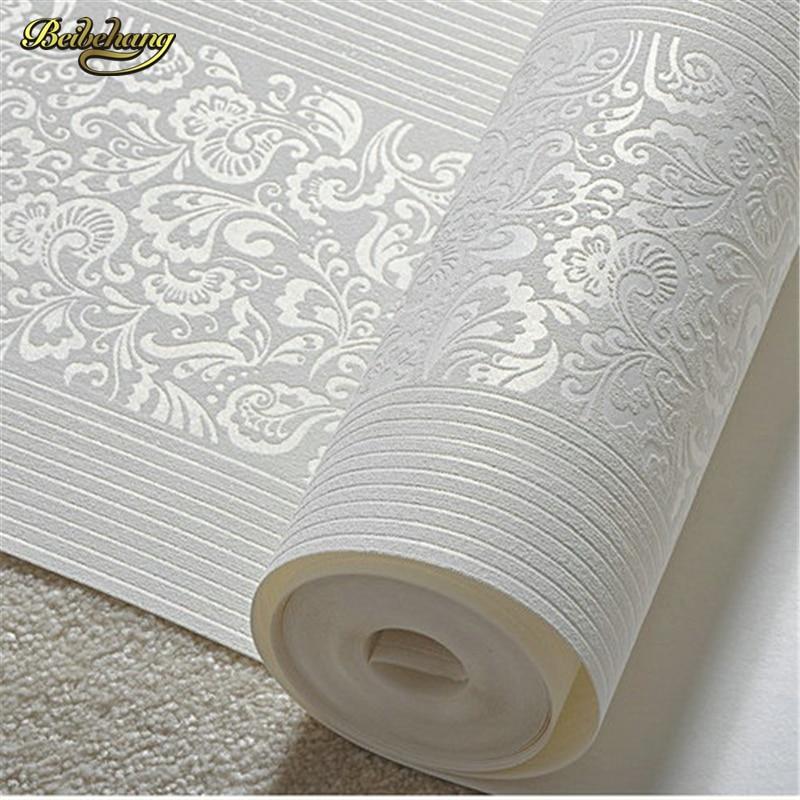 ④Beibehang Non-tissé papier peint flocage moderne ...