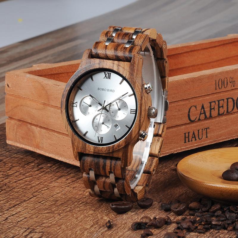 Relojes de Madera con Banda Metálica 5