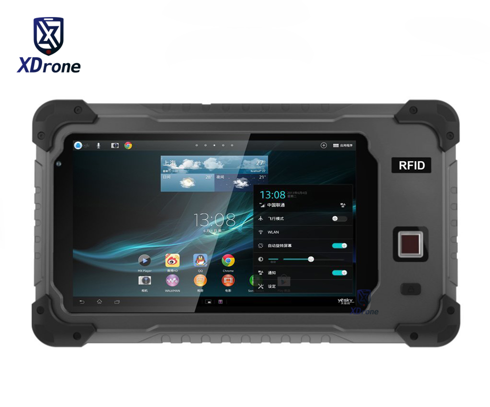 China S70L Rugged Android Tablet PC Phone Fingerprint RS232 Waterproof Shockproof Quad Core 7 Inch 1GB