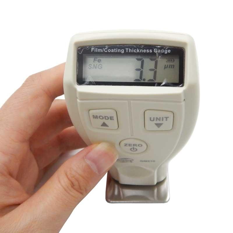 0-1800um Mini digital Paint film iron base thickness gauge Galvanized thickness measurement BENETECH GM210