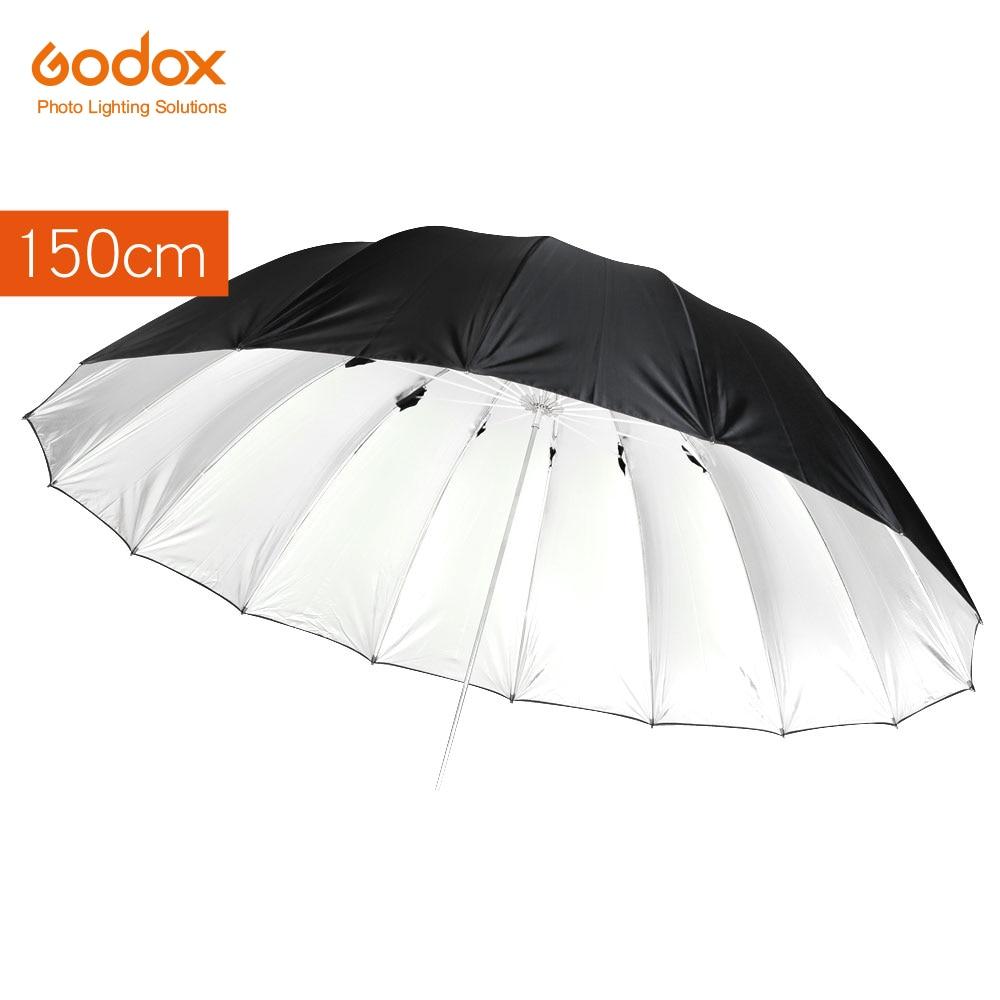 Godox Studio Photogrphy 150cm 60in Black Silver Reflective Lighting Light Umbrella
