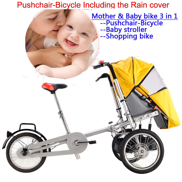 Excelli 16 Folding Mother Baby Stroller Free Rain Cover Pushchair Bike Carrier Carrinho Pushchair-Bicycle Baby Strollers 3 in 1 original hot mum baby strollers 2 in 1 bb car folding light baby carriage six free gifts send rain cover