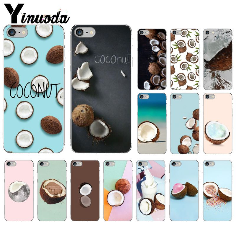 Yinuoda summer cool coconut DIY Painted Beautiful Phone Accessories Case for iPhone 6S 6plus 7 7plus 8 8Plus X Xs MAX 5 5S XR image