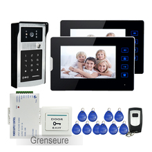 FREE SHIPPING Wired 7 Touch Key LCD Video font b Door b font Phone Intercom System