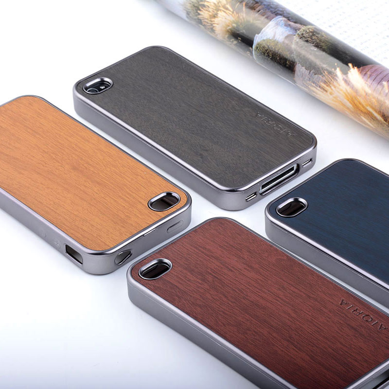 1pc for iphone 4S case metal brushed MOTOMO Cover case skin for iphone 4 4s sticker