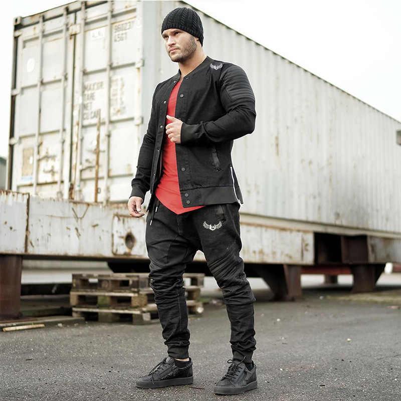 Мужские весенние джинсовые куртки и пальто Jaqueta Masculina мужские повседневные Модные уличные спортивные приталенные куртки на молнии Hombre