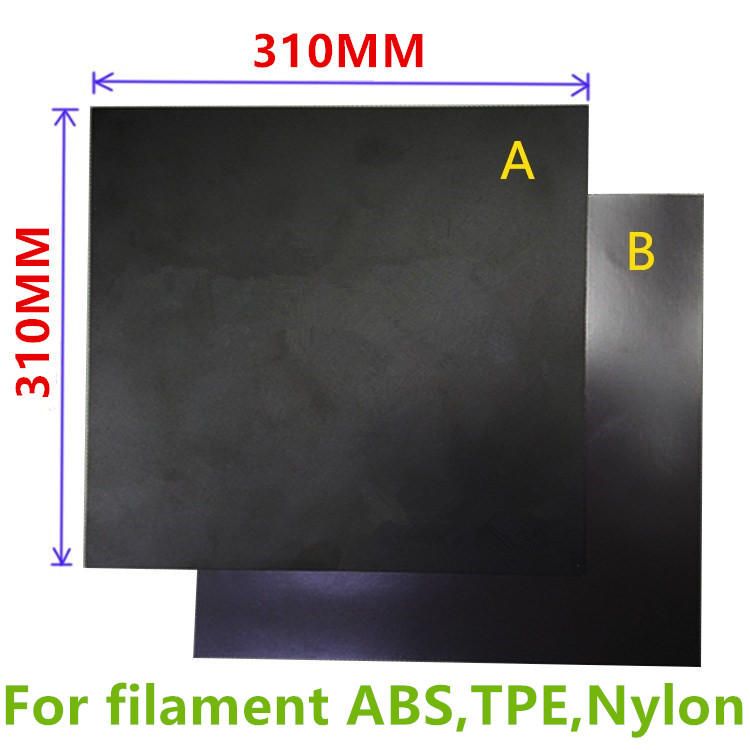 1set New 310x310mm Heatbed Magnetic Adhesive Sticker Flex Build Plate For Abs,nylon,tpe Filament A+b Pc Insulation Film Kit To Have Both The Quality Of Tenacity And Hardness Computer & Office 3d Printers & 3d Scanners