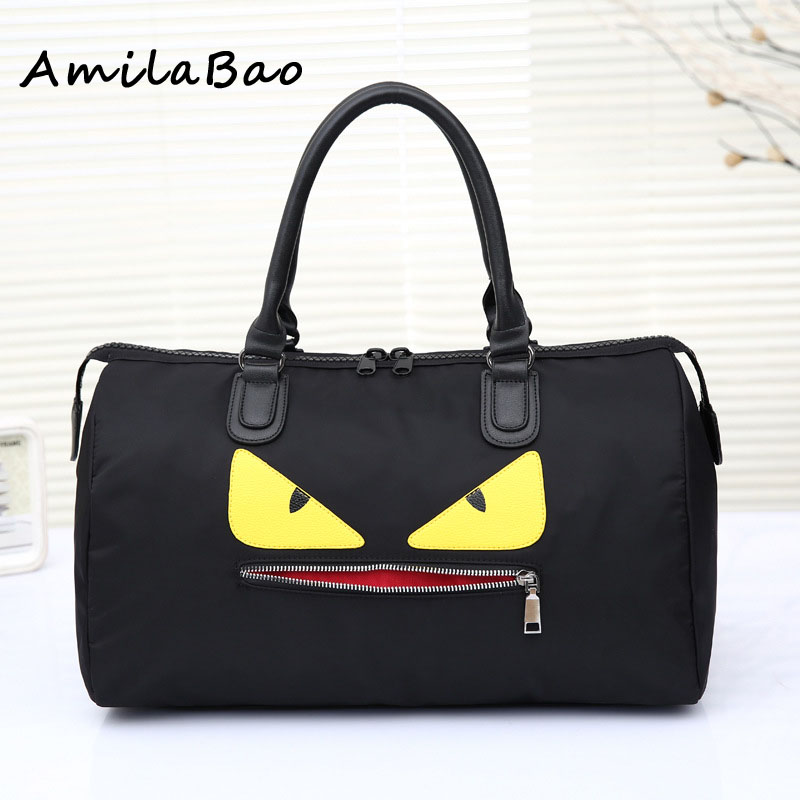 купить  canvas Boston bags Bowler Designer Top Handle Split Cat eyes Women Luxury Casual Roomy Tote Handbag Duffle Shoulder Bags ME574  недорого