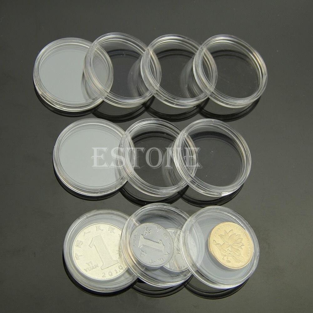 15 Mm X 11 120 Kasus Koleksi Koin Pemegang Referensi Daftar Dogecoin Eceran 10 Pcs 30mm Diterapkan Batal Putaran Penyimpanan Plastik Kapsul