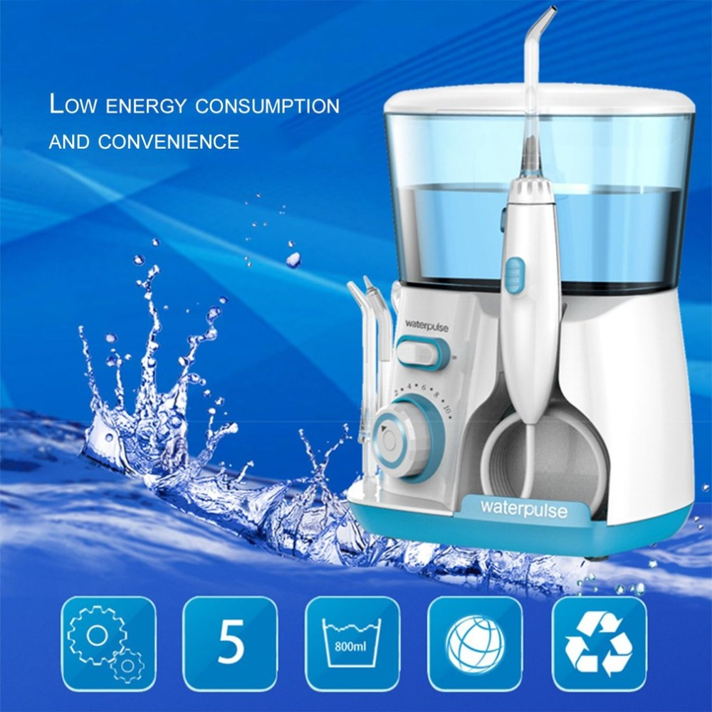 Waterpulse V300G 100-240V Teeth Flosser Hydro Set Oral Irrigator Water Jet Pick Dental Floss 800ML Capacity Tooth Cleaner oral irrigator dental whitening water teeth flosser electric tooth cleaner machine tooth device with uv sanitizer