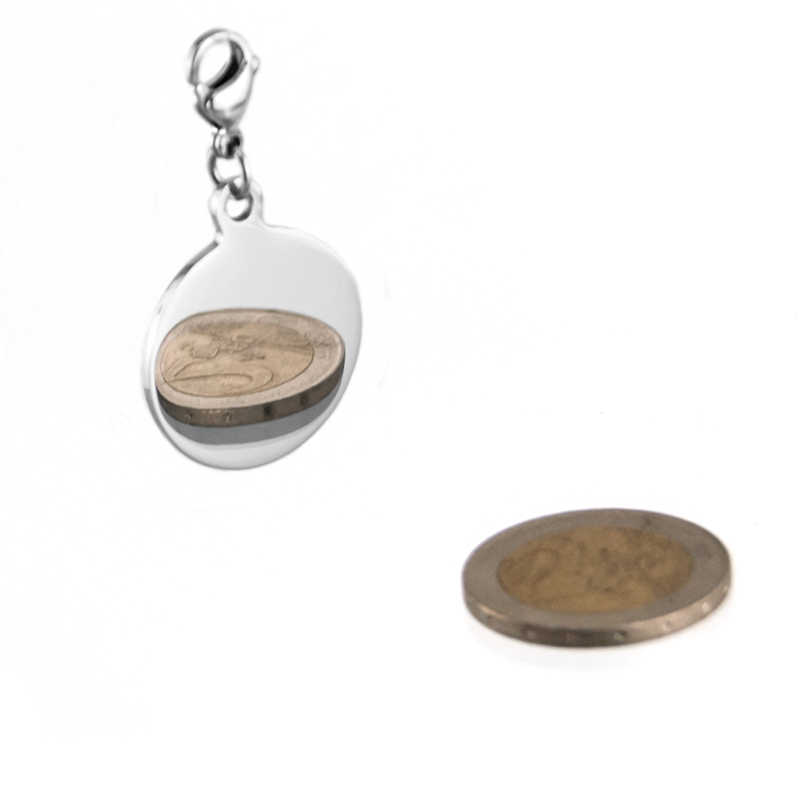 Stainless Charm Pendant Round Blank Tag Double High Mirror Polish Classic For Necklace Making Wholesale 10pcs