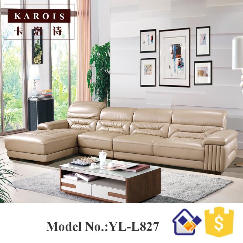 Modern Leather Mooka Sofa Living Room Furniture King Size Sofa