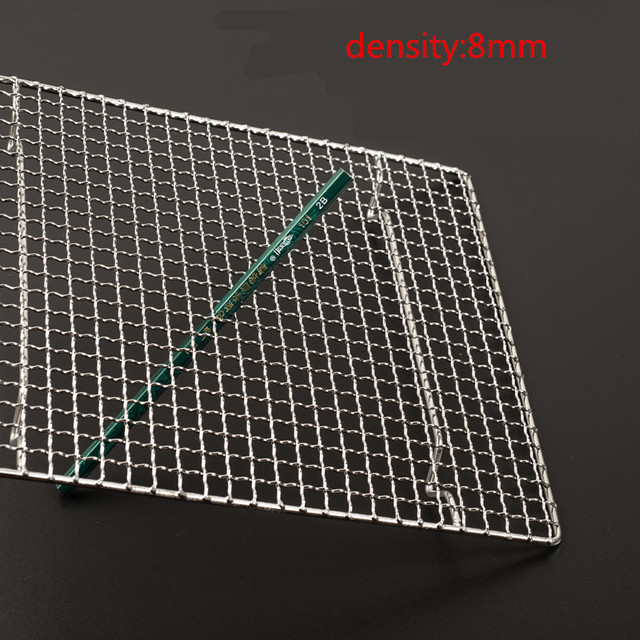 bbq meshes stainless steel 304 barbecue net BBQ grill Mesh Rectangular Baking Tool with Foot Drainage Cake Drying Mesh Frame