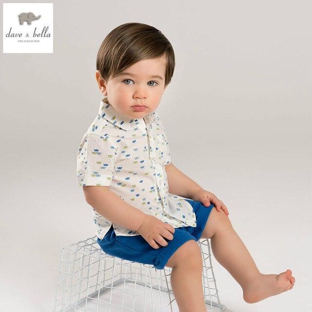 c6f05f24c10b6 DB5103 dave bella yaz bebek erkek giyim setleri çocuklar şık giyim toddle  bez setleri çocuk setleri