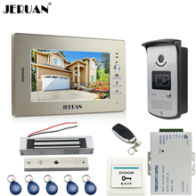 "JERUAN 7"" LCD Screen Video Intercom Video Door Phone Handsfree System access control system+700TVL Camera +Magnetic lock"