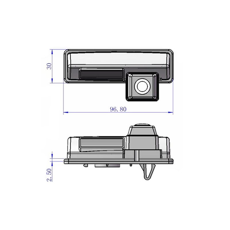 96.8*30mm for Toyota camry camera HD CCD car rear view