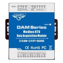 Modbus RTU Modulo di Acquisizione Dati 4 Analogico di Ingresso 4 Canali PT Termometro A Resistenza per Industrial Monitor di Energia DAM124
