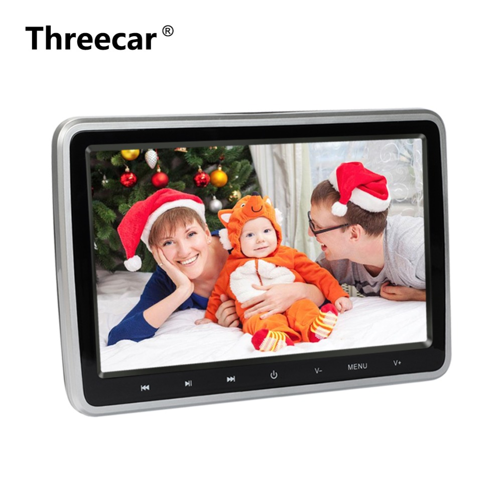 лучшая цена 10 Inch HDMI DVD Monitors 1024x600 HD Digital LCD Screen Car Headrest Monitor car audio Player FM Car Headrest DVD Player