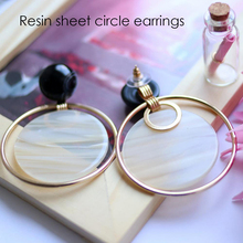 Resin Beads Making Drop Earrings Round Circle Plank Earrings