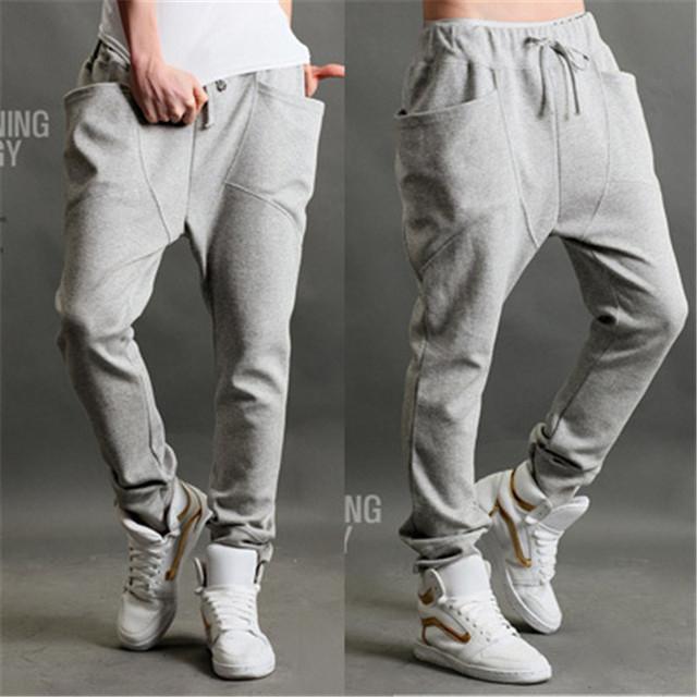 2016 de Verano Para Hombre de Corea pantalones harén cónicos pantalones amantes yardas grandes Delgadas pantalones masculinos marea Coreana sudaderas pantalones ardilla voladora