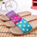 Parejas Zapatos de cáñamo de Los Hombres Primavera Verano Mujeres Zapatillas Diapositivas de Interior Para La Casa Dormitorio Baño antideslizante Pisos Pasoataques marca