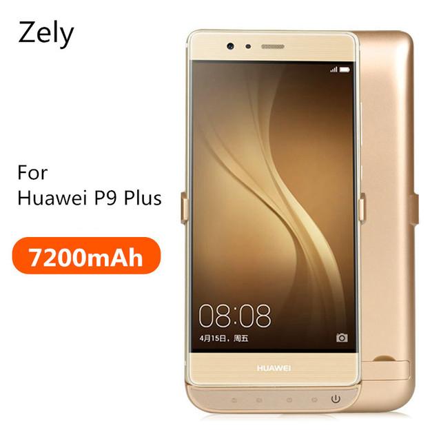 Zely de alta capacidad de 7200 mah de copia de seguridad caso de alimentación externa para huawei p9 además de 5.5 pulgadas cubierta del caso del cargador caja de la batería para huawei p9