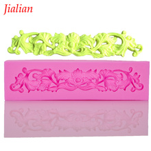 Continental embossed lace silicone mold chocolate fondant cake decoration baking kitchen tools FT-403