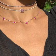 af3ce5f1c2d9 Nueva moda Boho lágrima cz eslabón de la cadena con cuentas color rosa oro  color de rosa collares alta calidad AAA cz collar de .